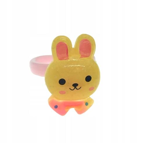 Pierścionek dla dziewczynki yellow bunny