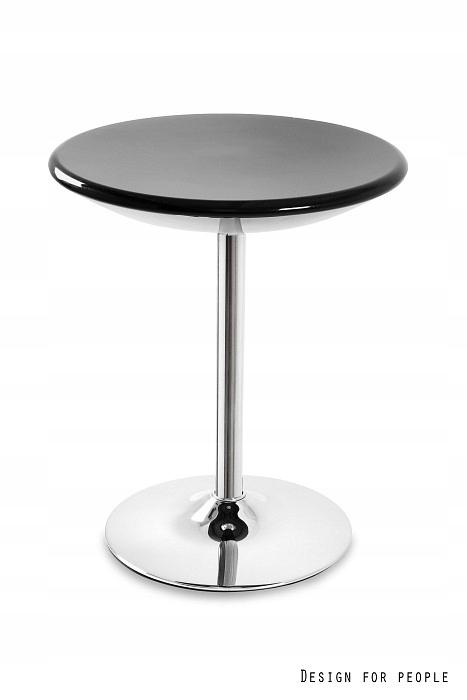 Stolik barowy BISTRO Unique czarny połysk 72 cm