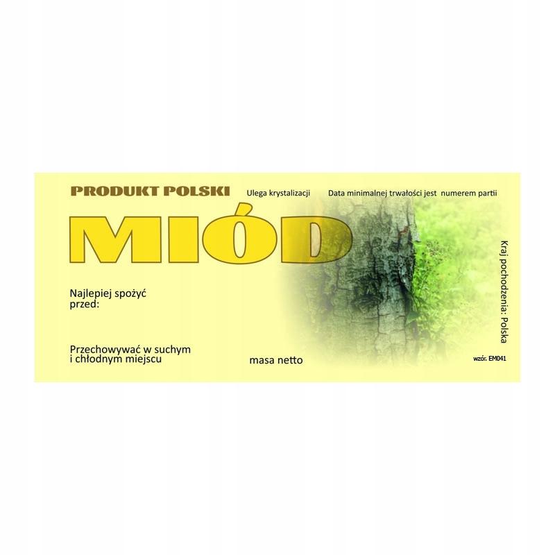 Etykieta na miód uniwersalna EM041D - duże