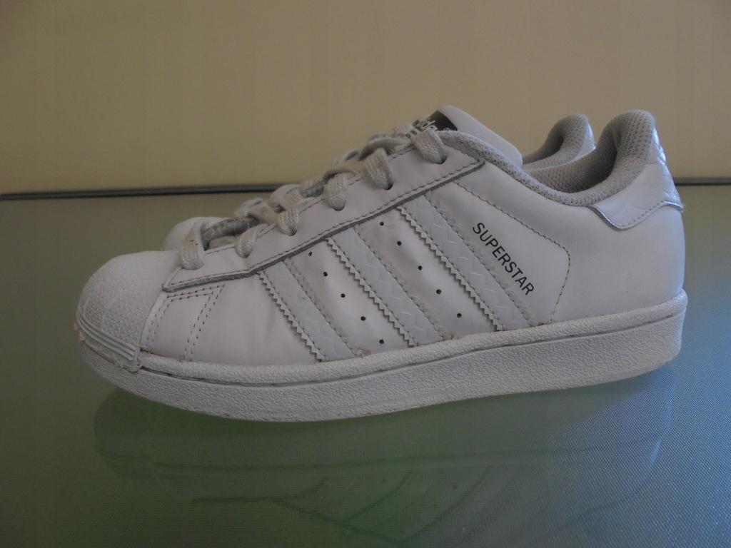 Skórzane buty firmy Adidas Superstar. Rozmiar 35,5