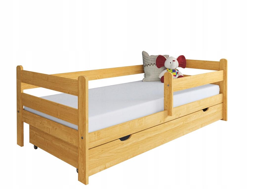 Łóżko dla dziecka z drewna Kevin 160x80 olcha