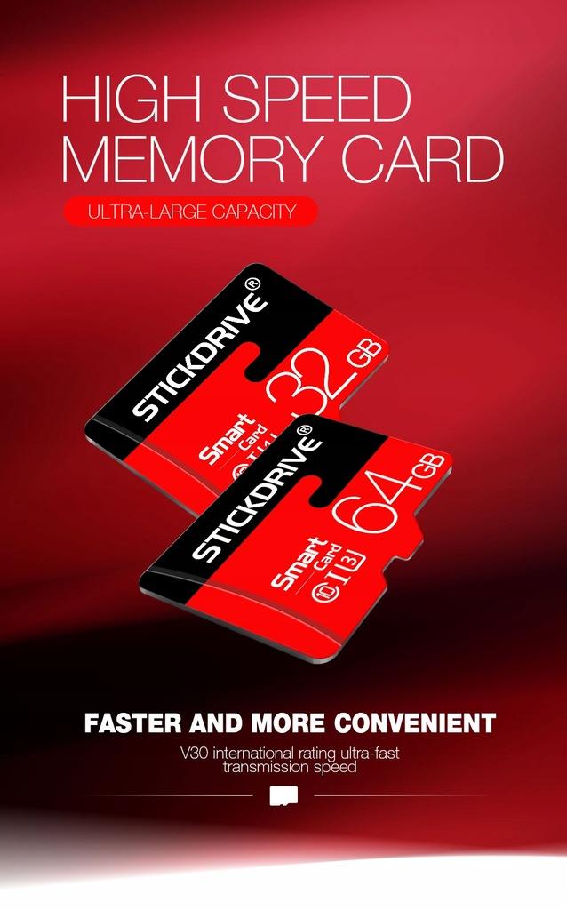 Karta Micro SD 64 GB Adapter STICKDRIWE SMART