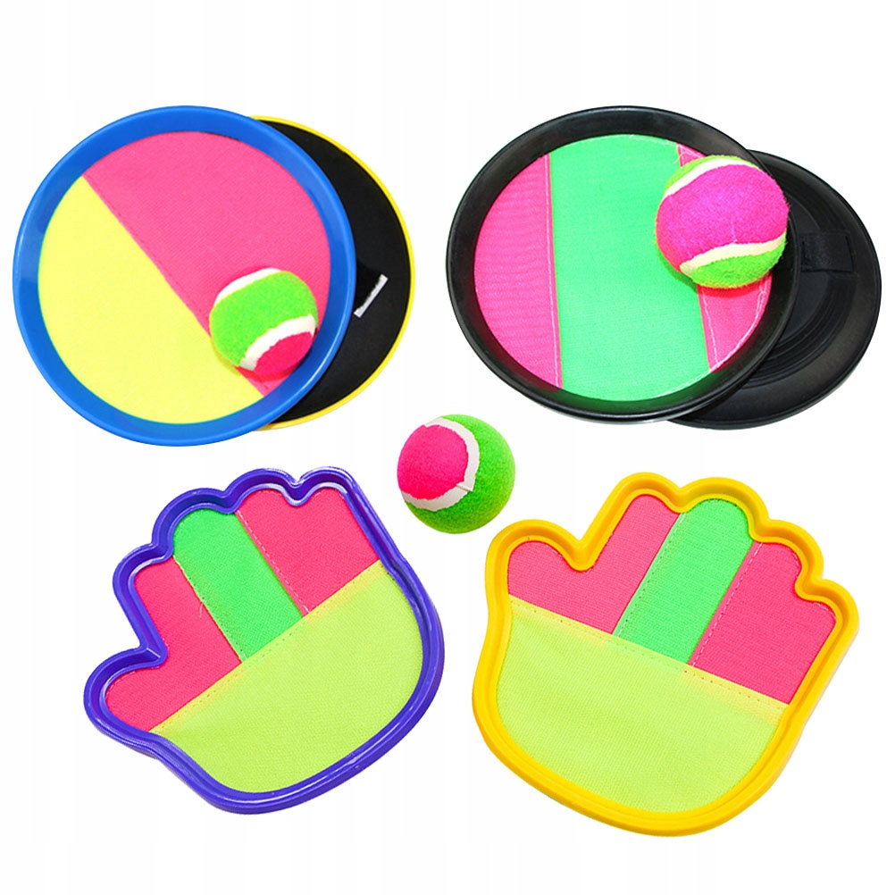 3 Sets Adjustable Toss and Catch Balls Dual Side