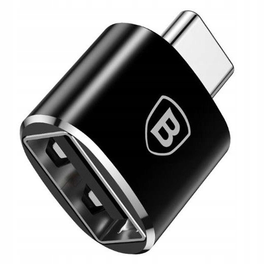 BASEUS ADAPTER TYPE-C TO USB/OTG CZARNY