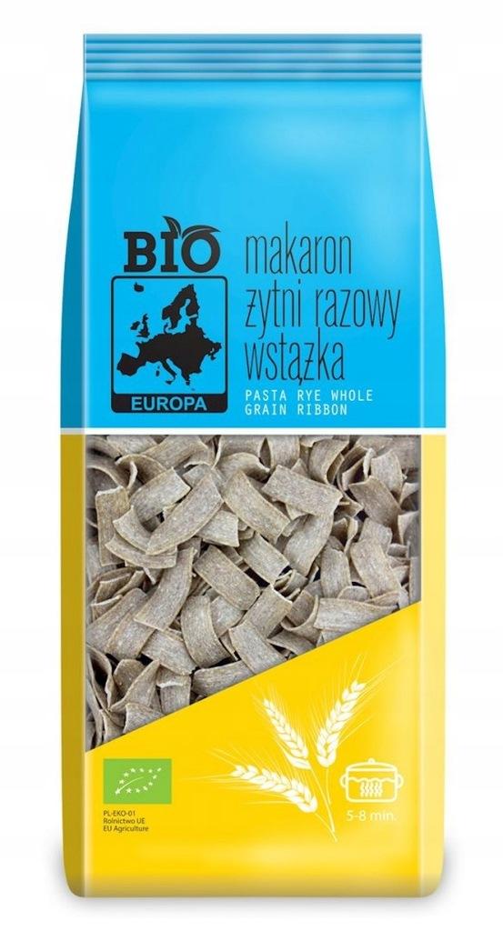 MAKARON (ŻYTNI RAZOWY) WSTĄŻKA BIO 400 g - BIO EUR