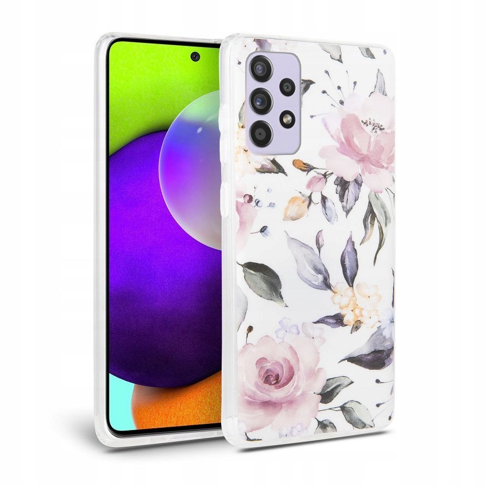 TECH-PROTECT FLORAL GALAXY A52 LTE/5G WHITE