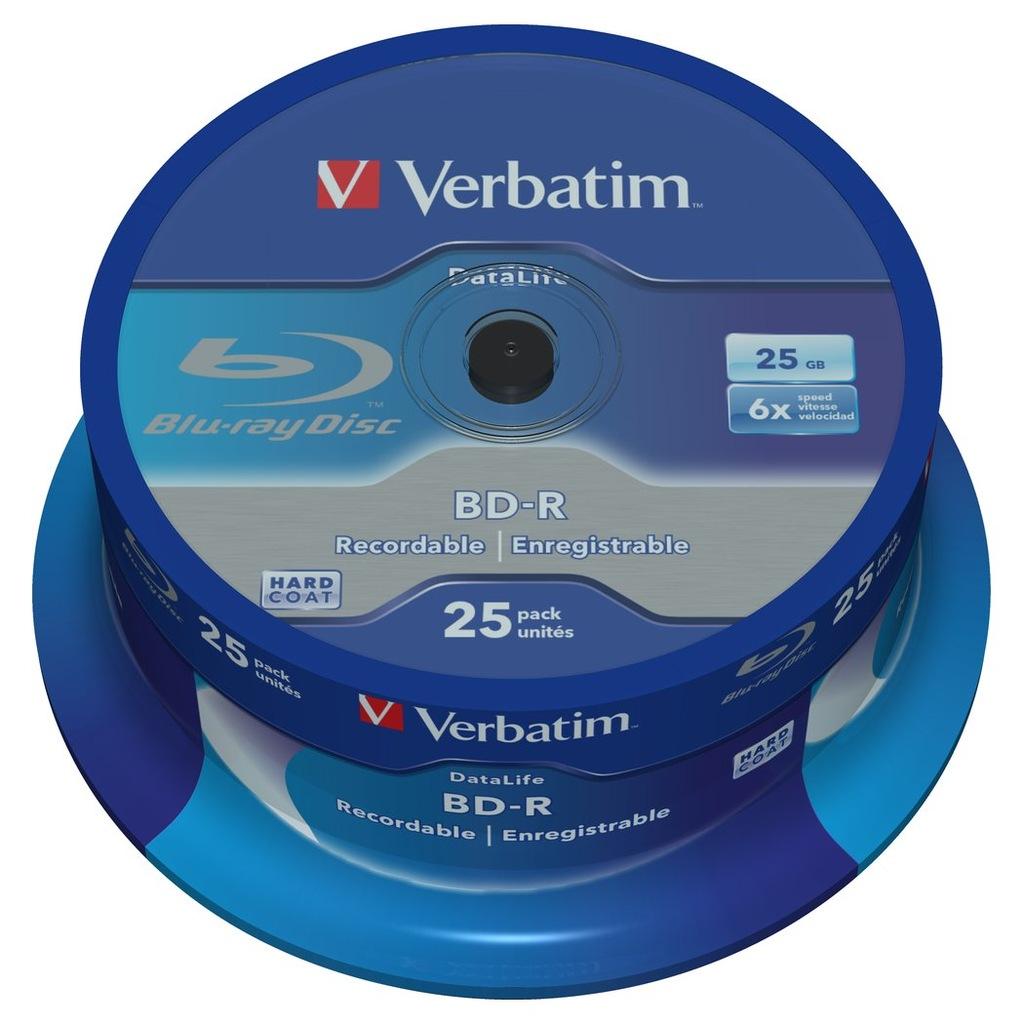Płyty Verbatim DataLife Blu-Ray BD-R 25GB c25