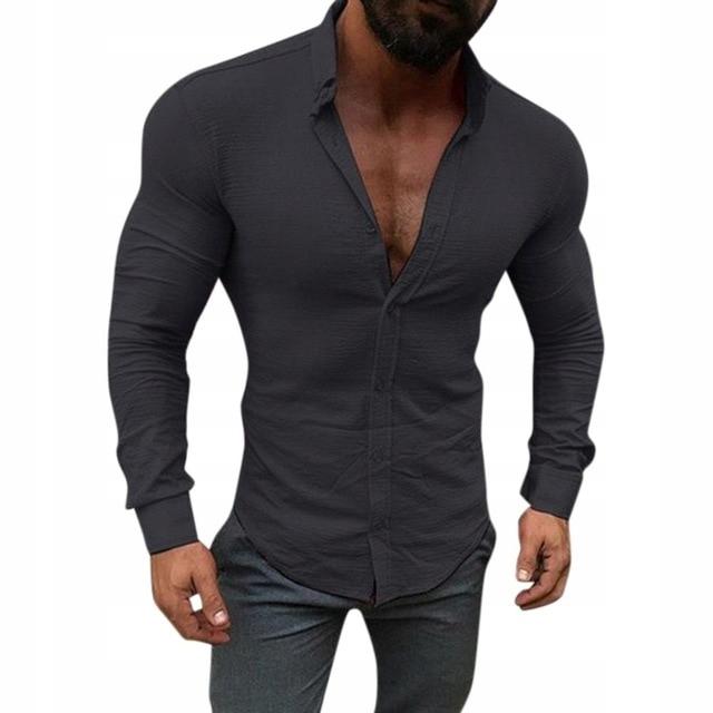 HIT 2019!! Koszula Czarna na LATO SLIM Fit S/M M/L