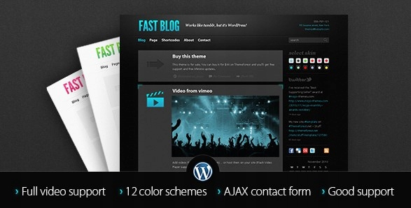 Szablon Themeforest Fast Blog WordPress Theme WP
