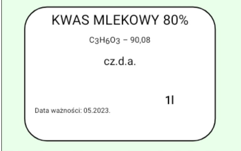 Kwas Mlekowy 80% 500ml.