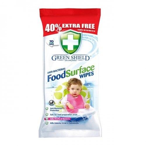 Chusteczki antybakteryjne Green Shield 70 szt