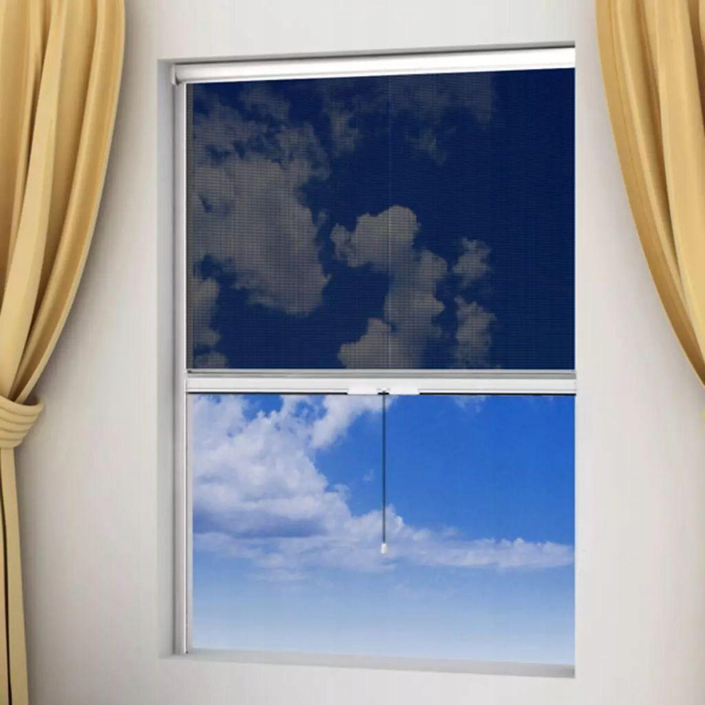 vidaXL Moskitiera zwijana na okna 80 x 170 cm,