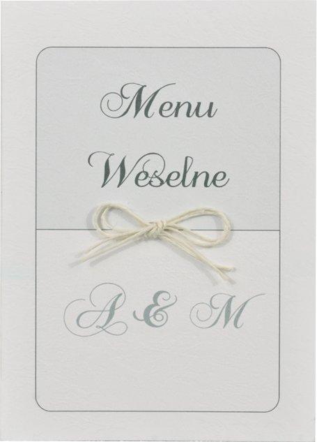 eleganckie, spersonalizowane białe otwierane menu