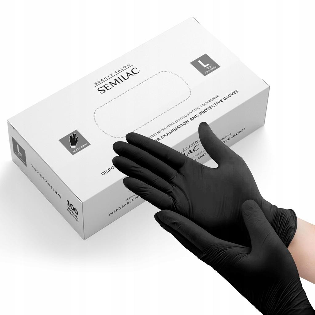 Rękawiczki nitrylowe SEMILAC czarne L rękawice och