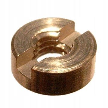 Nakrętki okrągłe M3 mosiądz toczone z rowkiem 8szt