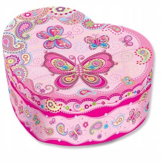Pecoware Pozytywka w kształcie serca Motylki