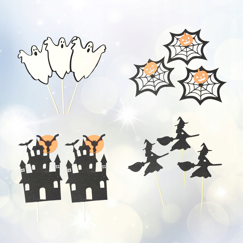 13Pcs Halloween Party Fun Cake Decorations Ghost H