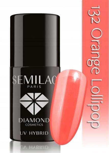 SEMILAC UV lakier hybrydowy 132 Orange Lollipop7ml