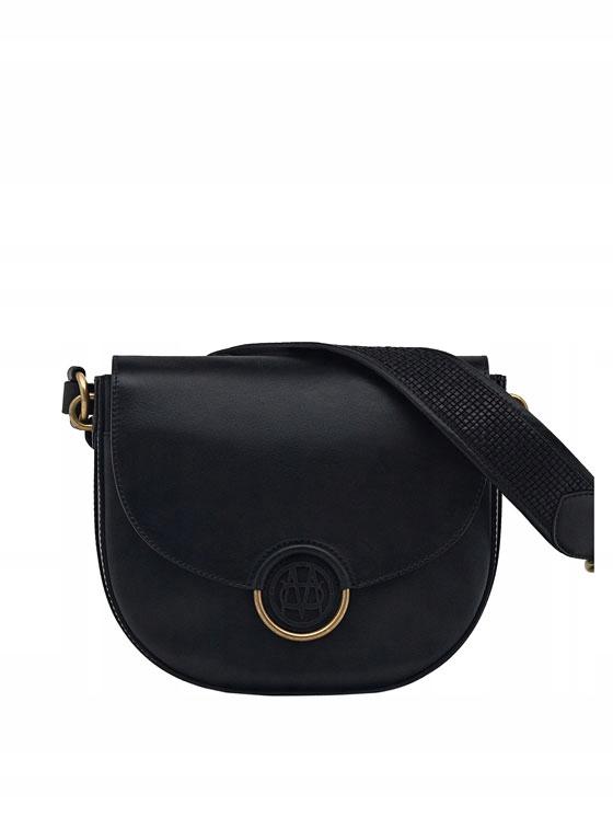 Skórzana torebka Massimo Dutti z monogramem NOWA
