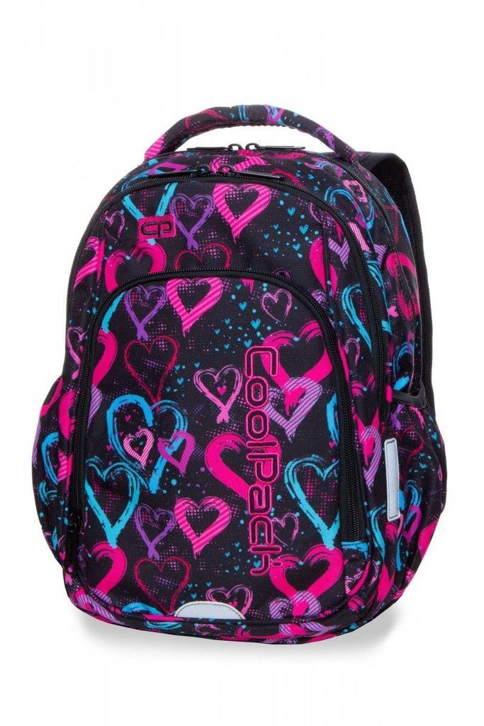 Plecak CoolPack STRIKE S w serca, DRAWING HEARTS