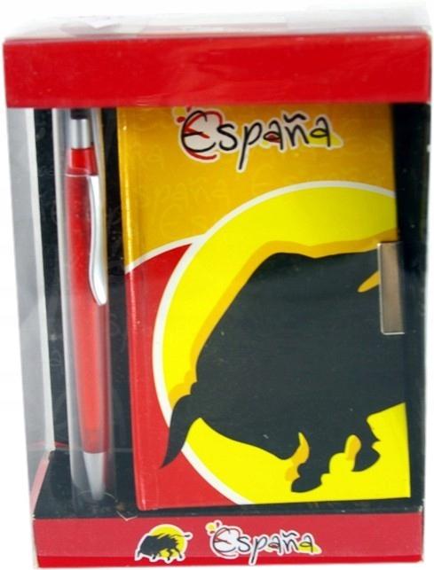 Notes Espania zamykany na kluczyk 14x9 + długopis