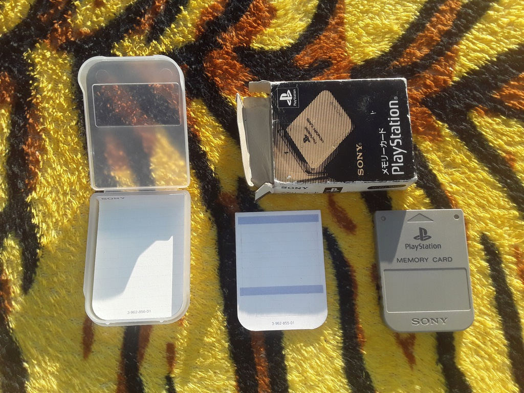 Karta pamięci oryginalna ps1 Sony SCPH-1020 box jp