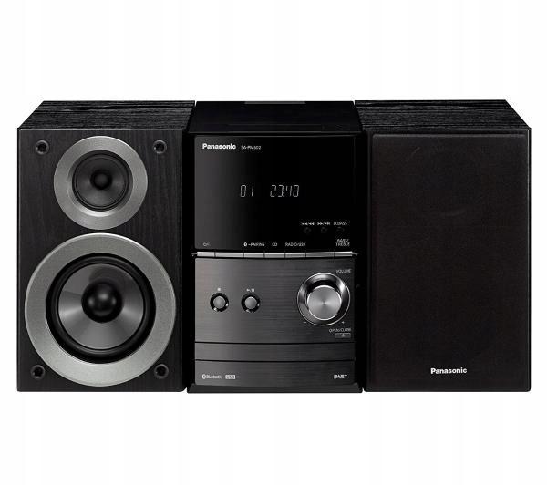 Wieża Panasonic SC-PM602 Bluetooth FM DAB Czarny