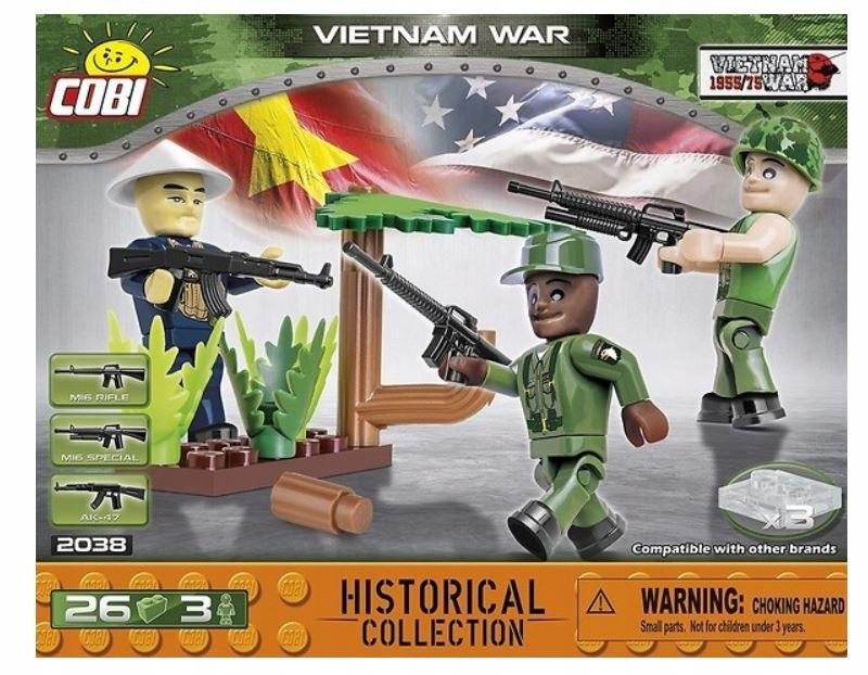 Klocki 26 elementów 3 figurki Vietnam War
