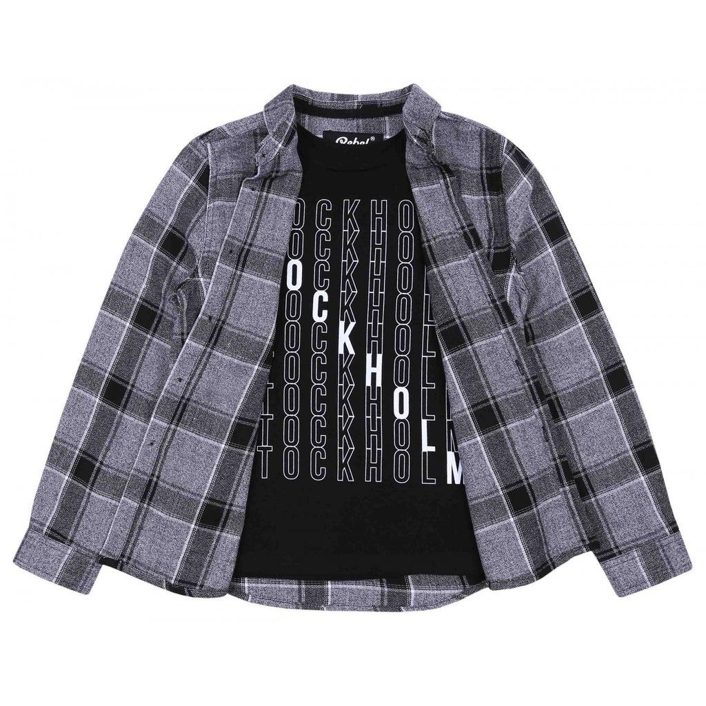 Zestaw koszula + T-shirt REBEL PRIMARK 12-13 lat