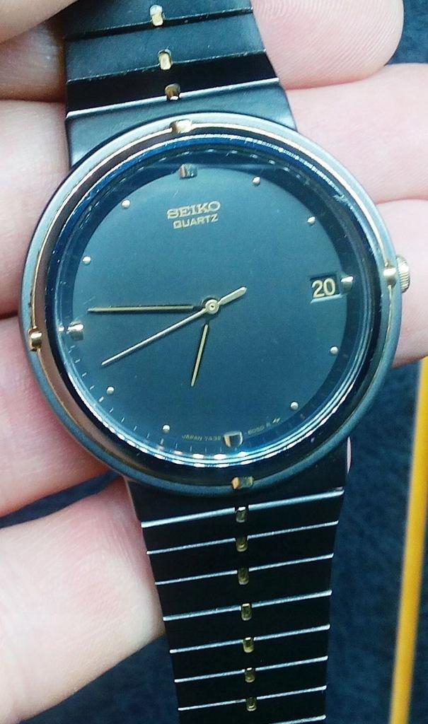 Piękny, japoński zegarek Seiko z datownikiem