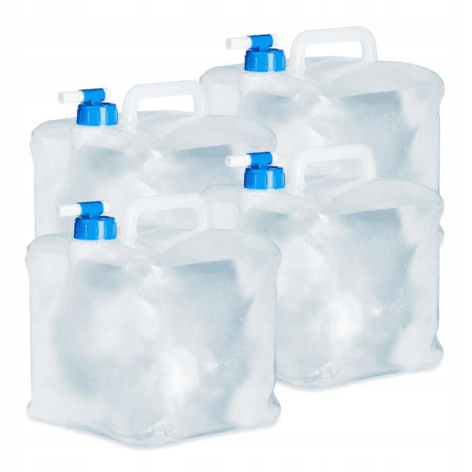 Relaxdays Kanister na wodę składany 4 szt KOMPLET