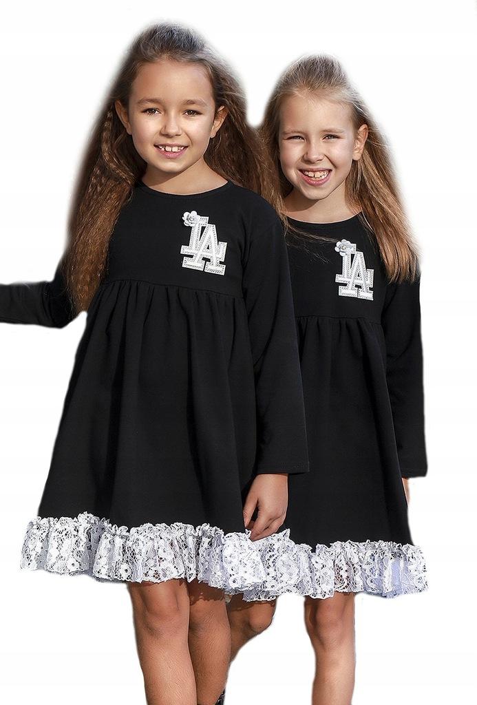Sukienka falbanka Kids by Voga Italia 122-128