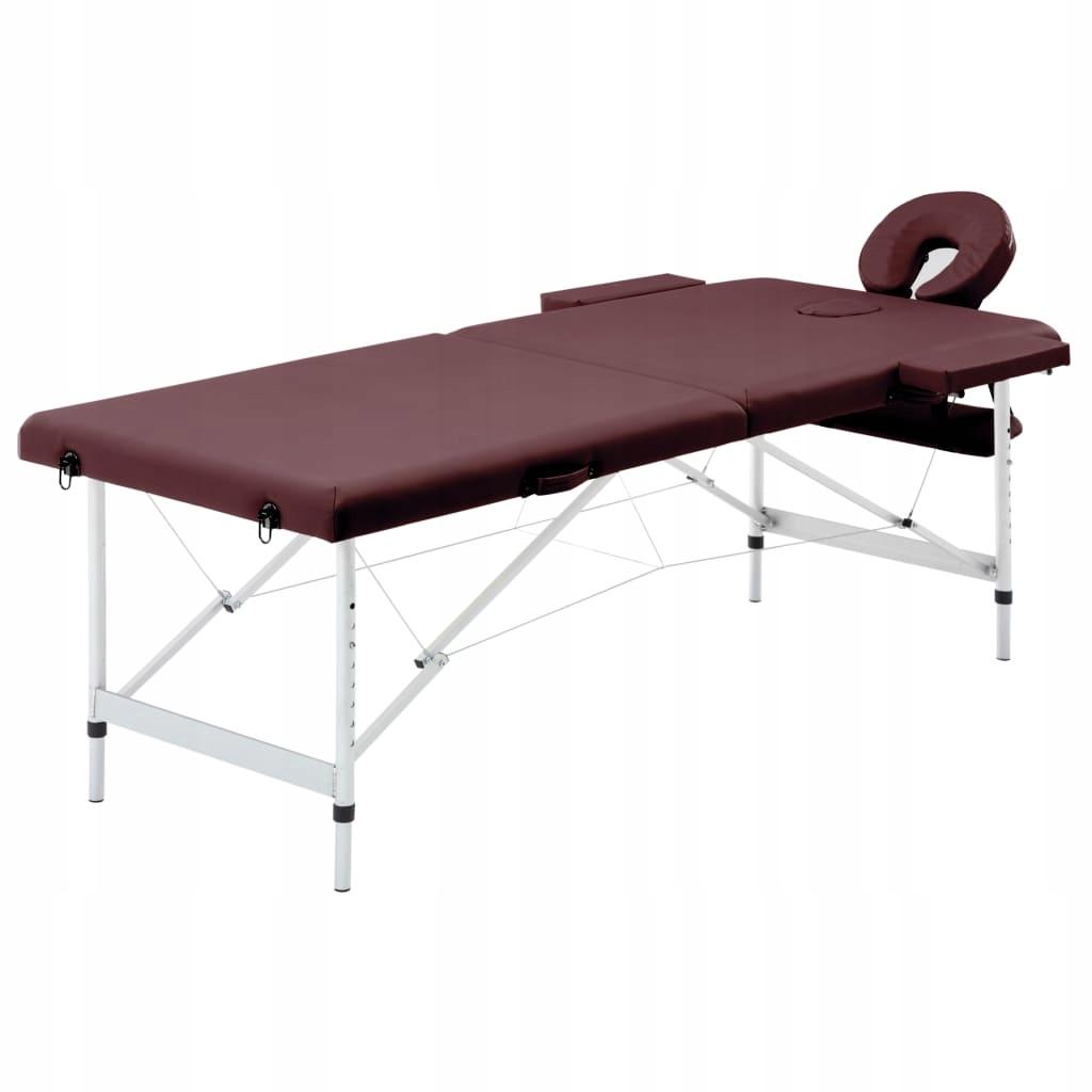 Składany stół do masażu, 2 strefy, aluminiowy, fio