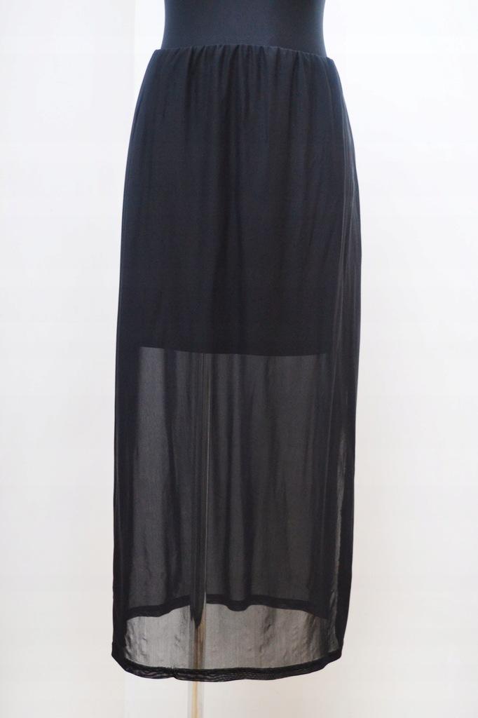 Czarna spódnica z rozcięciami gotycka lato S