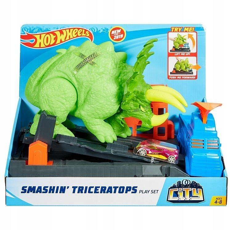 Tor samochodowy City Starcie z Triceratopsem Zesta
