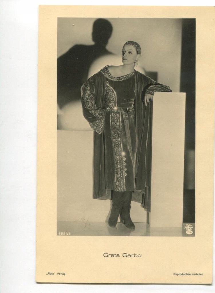 Greta Garbo Kino Film Aktorka Foto Pocztówka 45
