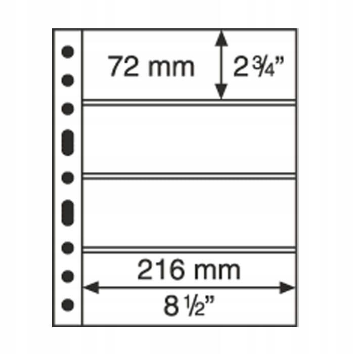 Grande 4C karta / strona na banknoty - 5 szt.