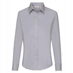 DAMSKA koszula na święta OXFORD LONG FRUIT szary S