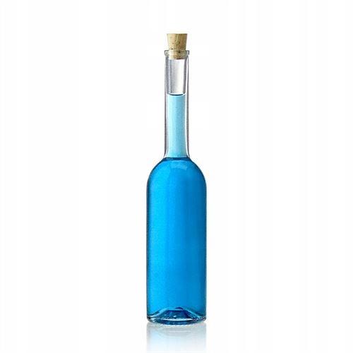 butelka ozdobna z korkiem na nalewki wino bimber