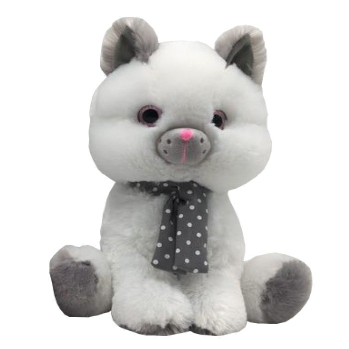 Pluszak maskotka Kot biały Silver 30cm Axiom