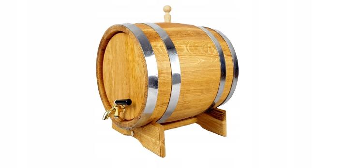 Beczka dębowa 50L na bimber whisky Kranik mosiężny