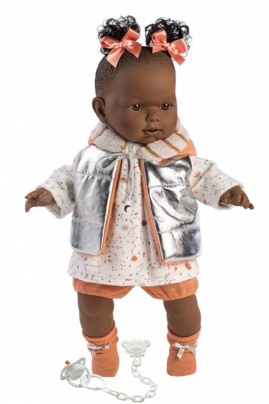 Lalka płacząca Nicole pomarańczowe kokardy 42642 4