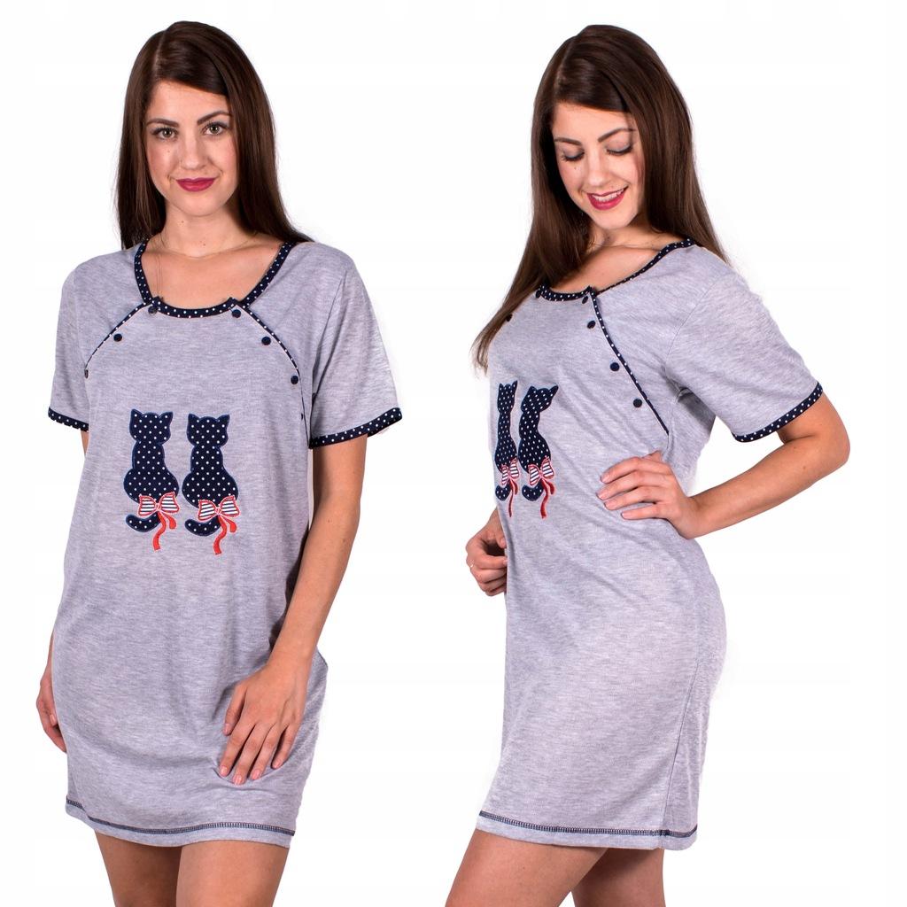 Koszula Nocna Ciążowa do Karmienia XXL 44 46 G 7097540924  krFOC