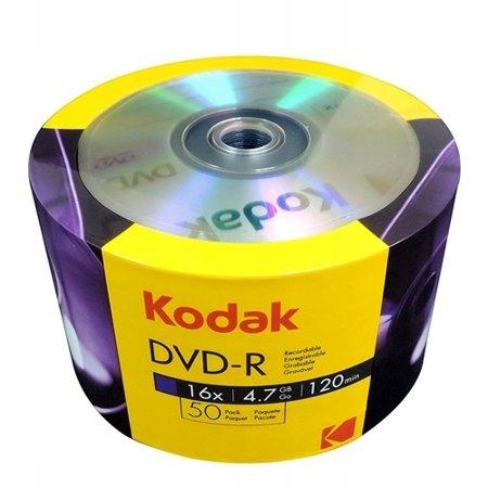 DVD-R KODAK 4.7GB X16 120MIN SPINDLE 50 SZTUK