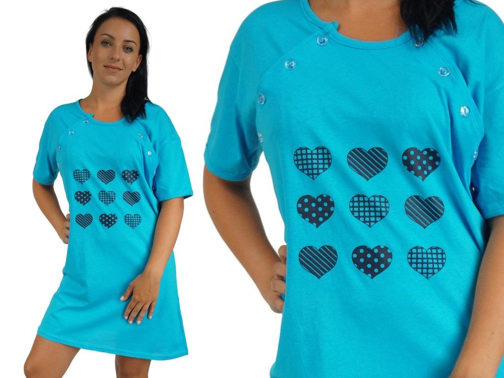 KOSZULA NOCNA L 40 koszulka do karmienia ciążowa n