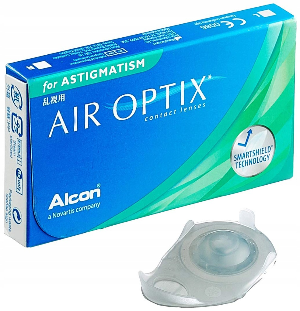 Soczewki Alcon Air Optix, 3 szt BC -2,25 dioptrii