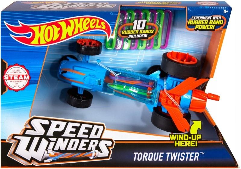 Hot Wheels Autonakręciak i wyscigówki, niebieski
