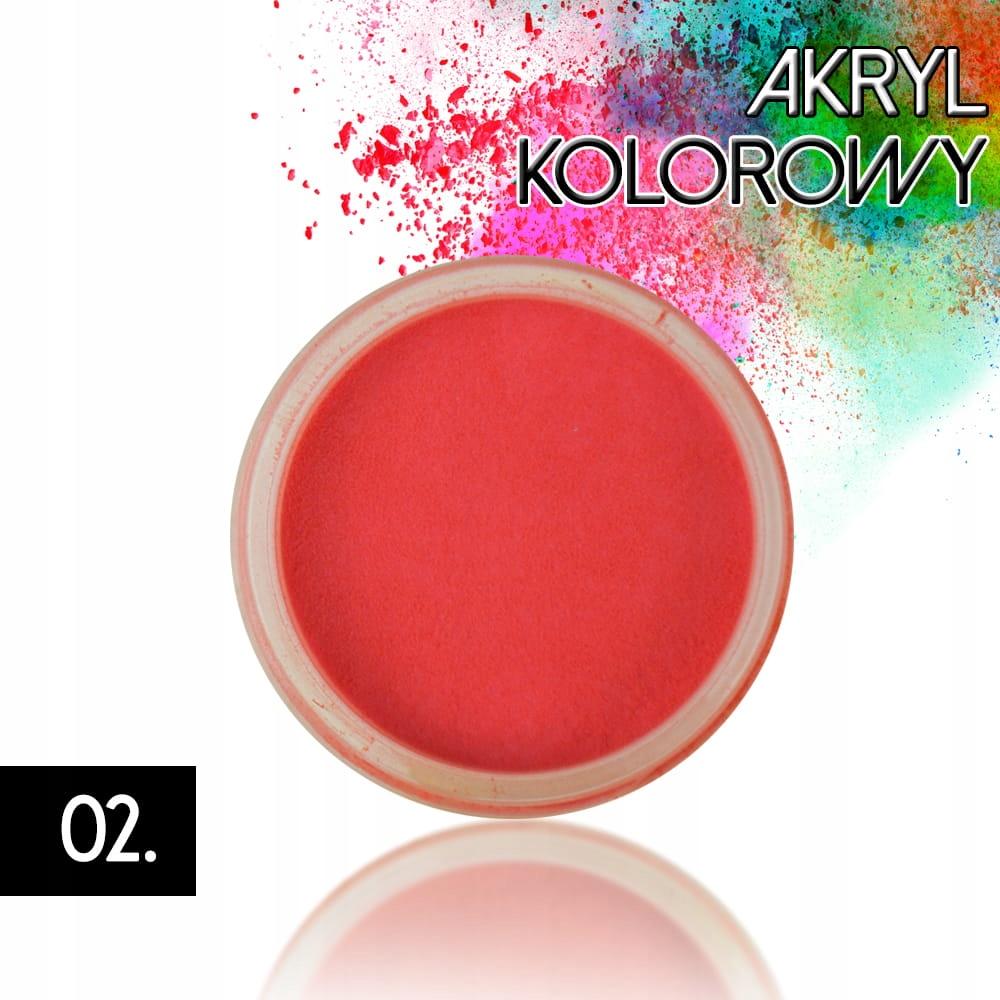 Akryl 02 kolorowy proszek akrylowy 4g do zdobień
