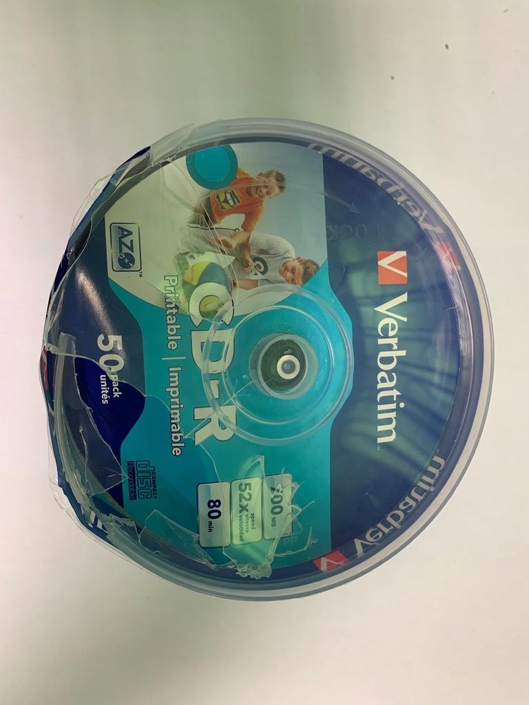 Płyty CD-R Verbatim Do nadruku 50 szt CDR