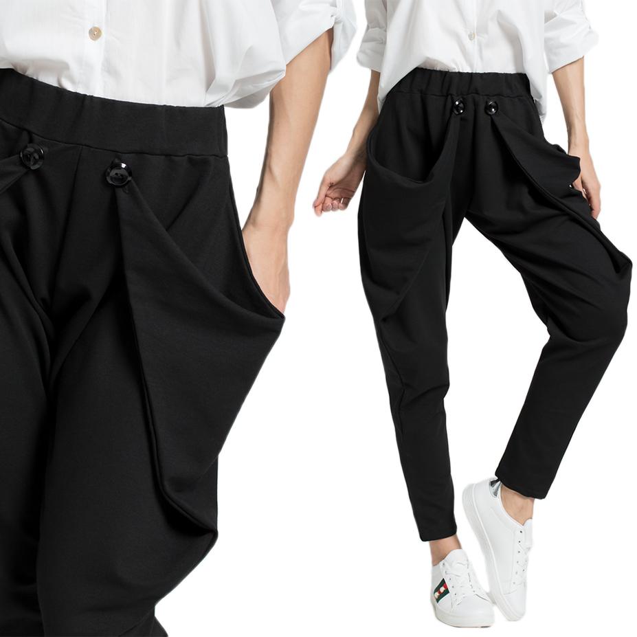 Bawełniane spodnie fantazyjne bryczesy C07 L